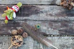 место праздника предпосылки обрамленное рождеством Стоковое Фото