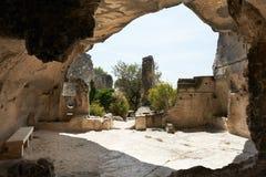 место Провансали французских les de baux средневековое стоковое фото rf