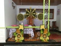 Место проповеди Dhamma мимо создается с пуком листьев стоковые фотографии rf
