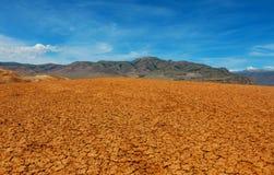 Место пустыни безжизненное Стоковое Изображение RF