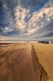 Место пляжа рта реки Стоковые Фотографии RF
