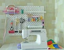 Место работы для needlework Стоковое Фото