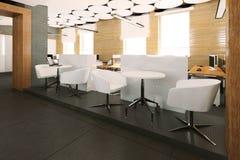 Место работы пустого современного офиса внутреннее Стоковое фото RF
