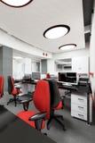 Место работы пустого современного офиса внутреннее Стоковые Фото