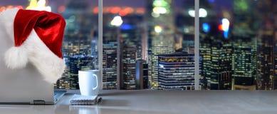 Место работы рождества с панорамным взглядом Стоковая Фотография