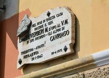 Место рождения Luigi Reverberi стоковое изображение