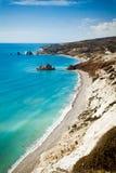 Утес Афродиты в Pafos, Кипр Стоковое Изображение
