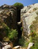 Место рождения реки Zezere на Serra da Estrela, Португалии Стоковая Фотография RF