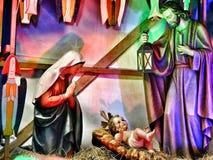 место рождества jesus josef mary шпаргалки рождества christ Стоковые Изображения RF