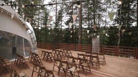 Место свадебной церемонии сток-видео
