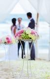 Место свадьбы на пляже. Стоковое фото RF
