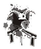 место сирени пушки карточки скомороха предпосылки Стоковое Изображение