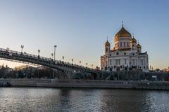 место спасителя России ночи christ moscow собора Стоковое Фото