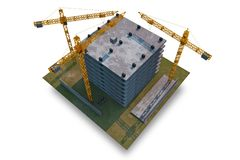 Место строительной конструкции Стоковая Фотография