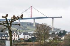 Место строительства моста, высокий мост Мозель Стоковые Изображения RF