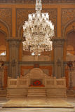 Место трона на Khilwat Mubarak дворца Chowmahalla стоковая фотография