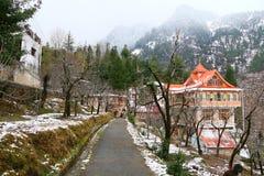 Место туриста дома горы льда Стоковое фото RF