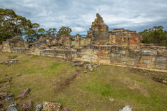 Место угольных шахт историческое: Клетки Тасмания каторжник стоковое изображение