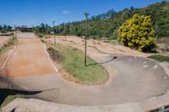 Место ущелья Giba трассы велосипеда BMX Стоковое Изображение