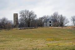 Место фермы на пасмурный день Стоковые Изображения