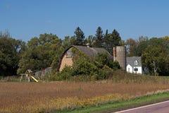 Место фермы с спортивной площадкой Стоковое фото RF