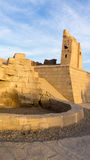 Место фонтана в древнем храме Стоковые Фото