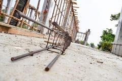 Место цемента строительной площадки Стоковая Фотография