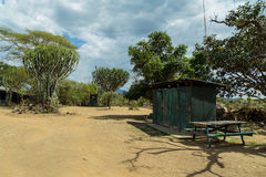 Место для лагеря в Кении стоковые фото