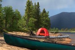 Место для лагеря пляжа Стоковая Фотография RF