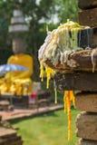 Место для молит на статуе Будды, Таиланда Стоковое Изображение