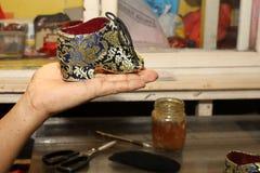 Место для работы сапожника создателей ботинка Стоковое Изображение
