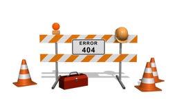 место 404 конструктивных ошибок вниз иллюстрация вектора