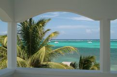 место caribbean пляжа Стоковое фото RF