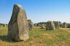 Место Carnac megalithic в Бретани, Франции стоковое фото