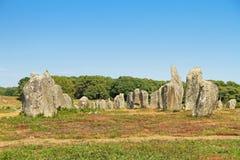 Место Carnac megalithic в Бретани, Франции стоковые фотографии rf