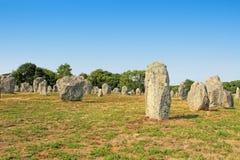 Место Carnac megalithic в Бретани, Франции стоковое изображение rf