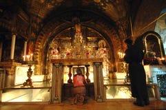 место crucifixion Стоковая Фотография