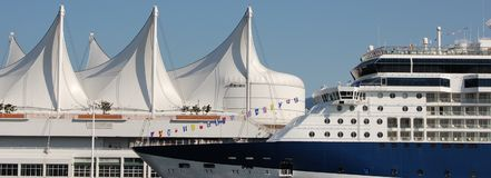 место cruiseship Канады Стоковые Фото