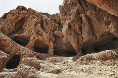 Место Cuatro Puertas археологическое в Gran Canaria Стоковая Фотография
