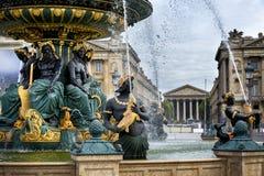 Место de Ла конкорд на летний день в Париже, Франции Стоковые Фото