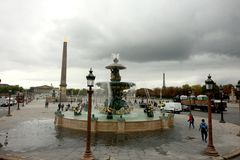 Место de Ла конкорд, Париж Франция стоковые изображения rf