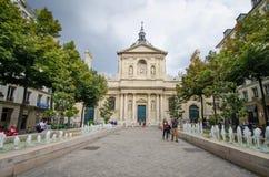 Место de Ла Sorbonne в Париже, Франции Стоковые Изображения