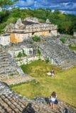 Место Ek Balam майяское археологическое Руины Майя, полуостров Юкатан Стоковое Изображение RF