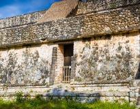 Место Ek Balam майяское археологическое Старые пирамиды и Rui Майя Стоковые Изображения RF