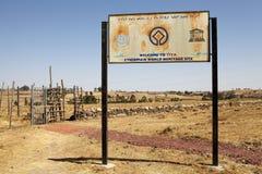 Место Eritage мира Tiya эфиопское стоковые изображения