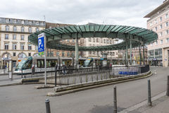 Место Homme de Fer в страсбурге, Франции Стоковое фото RF