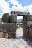 Место Inca Saqsaywaman в Перу Стоковое фото RF