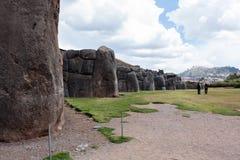 Место Inca Saqsaywaman в Перу Стоковые Изображения RF