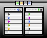 место iphone ipad интерфейса bookmarks иллюстрация штока