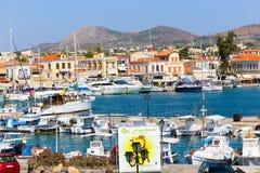 место kolona острова Греции aegina археологическое Стоковые Изображения RF